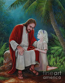 Jesus with child by Michael Nowak