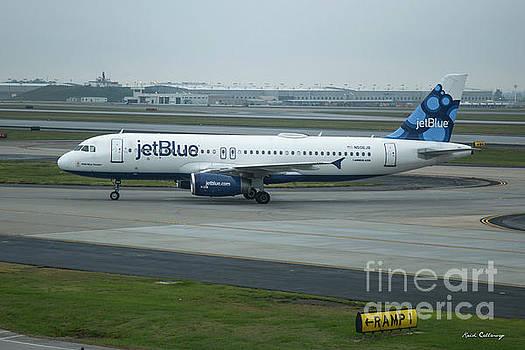 Reid Callaway - jetBlue Airways Jet N590JB Arriving Hartsfield-Jackson Atlanta International Airport Art