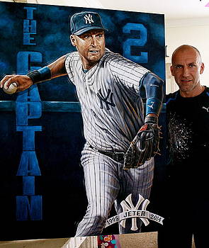FOR SALE Jeter L E Giclee Canvas Prints 40 x 30 inches please inquire  by Sports Art World Wide John Prince