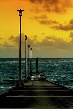 Jetty at sunrise by Stuart Manning