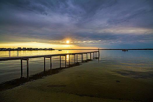Jetty Four Bayside Sunset by Robert Seifert