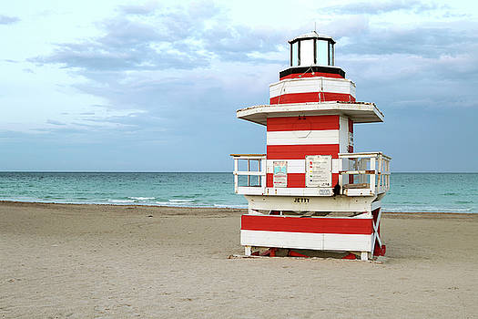 Jetty Lifeguard Tower - Miami Beach by Art Block Collections