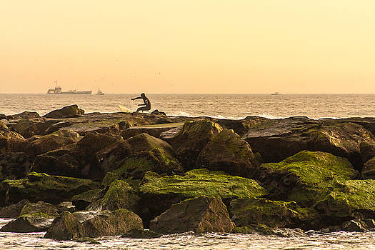 Jetty Surfer by Kathleen McGinley