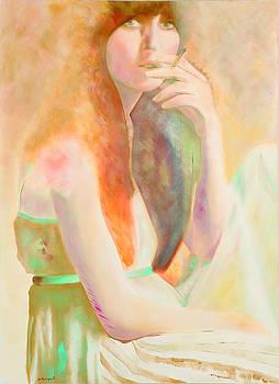 Jeune Fille A La Cigarette by Krzis-Lorent Frederique