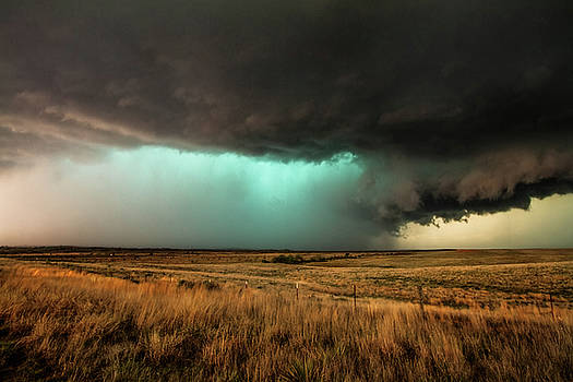 Jewel of the Plains - Teal Colored Storm in Texas Panhandle by Sean Ramsey
