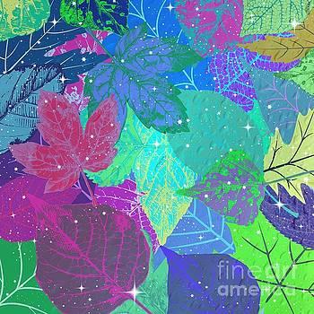 Jeweled Leaves by Diamante Lavendar
