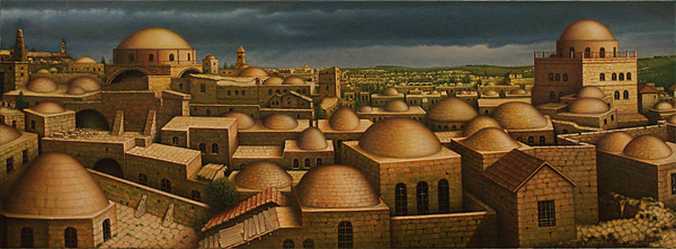 Jewish Quarter in Old Jerusalem.  by Eduard Gurevich