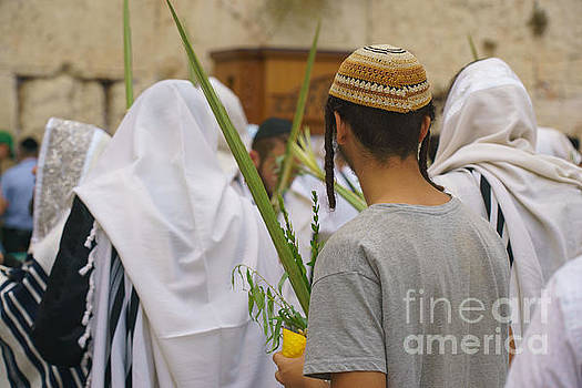 Jewish Sunrise Prayers At The Western Wall, Israel 8 by Jeffrey Worthington