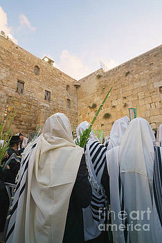 Jewish Sunrise Prayers At The Western Wall, Israel 9 by Jeffrey Worthington