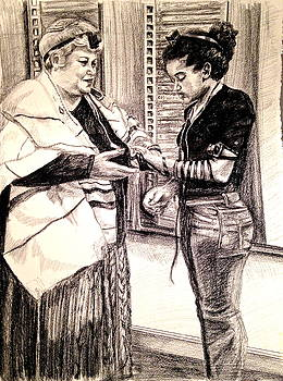 Jewish Women Wrapping by Kimberly Miller