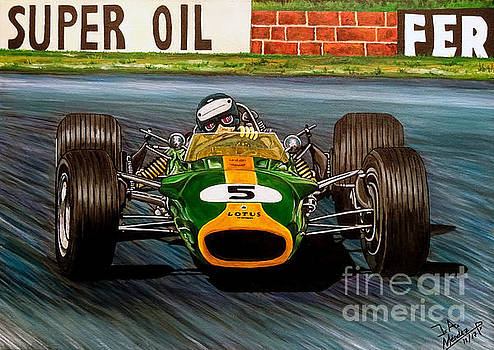 Jim Clark Lotus 49 by Jose Mendez