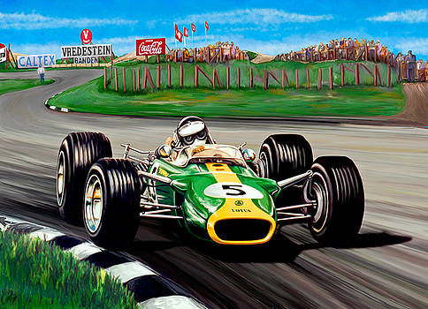 Jim Clark Lotus by David Kyte