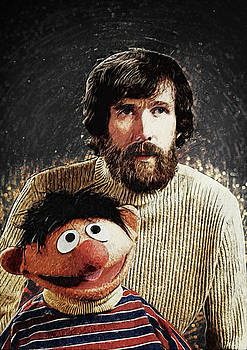 Jim Henson with Ernie by Taylan Apukovska