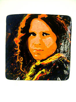 Jim Morrison Hand Made Tile by Chris Mackie