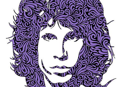 Ricky Barnard - Jim Morrison Sillhouette Ultraviolet