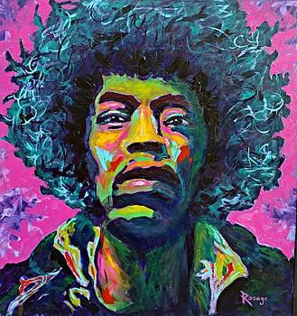 Jimi Hendrix by Bernie Rosage Jr
