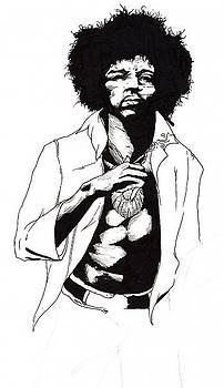 Jimi Hendrix by Elliott Danger James