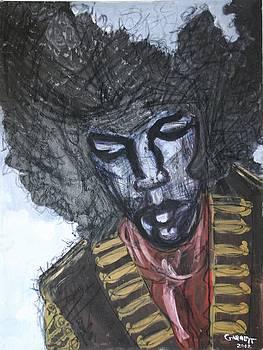 Jimi Hendrix by Garnett Thompkins
