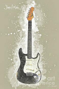 Jimi Hendrix Guitar by Tim Wemple