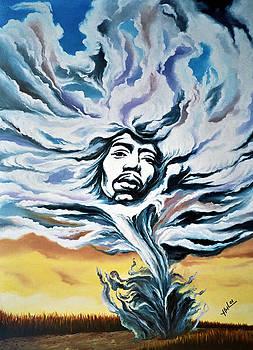 Jimi Hendrix ''Kiss The Sky I'' by Hector Monroy