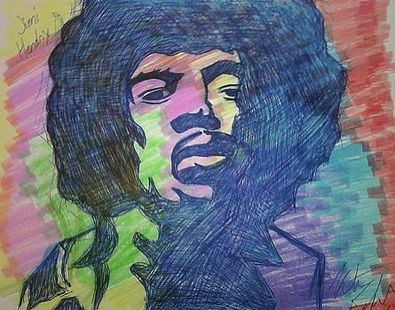 Jimi Hendrix by Kristen Diefenbach