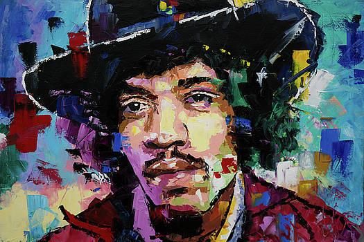 Jimi Hendrix portrait II by Richard Day