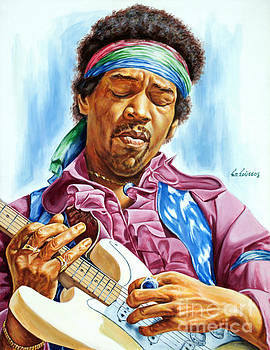 Jimi Hendrix by Spiros Soutsos