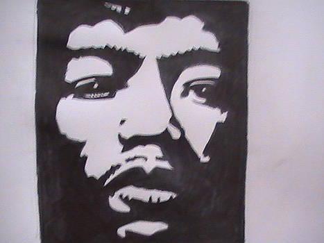 Jimmy Hendrix-purple haze by Paul Gemmell