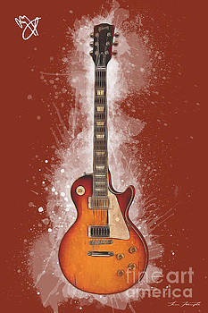 Jimmy Page Guitar by Tim Wemple