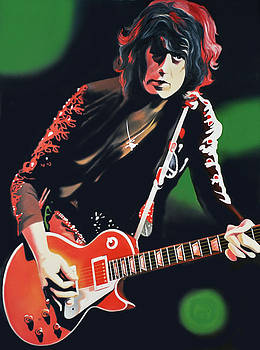 Jimmy Page by Hector Monroy