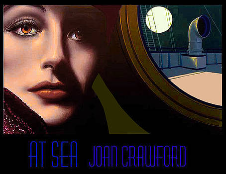 Joan Crawford At Sea by George Torjussen