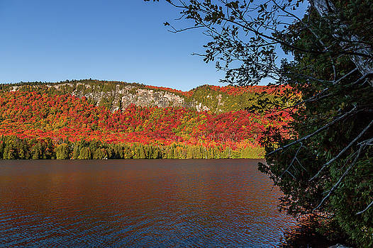 Jobs Pond and Mountain Autumn by Tim Kirchoff