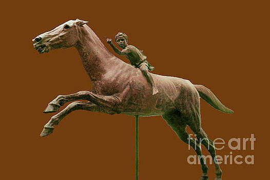 Bob Phillips - Jockey of Artemision - Red/Brown Background