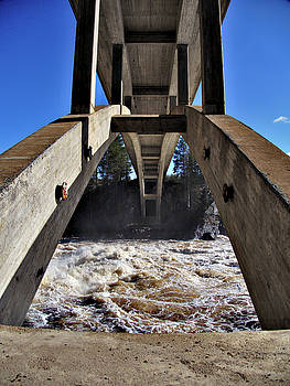 Jockfall, waterfall in the north of Sweden by Webbon Sushko