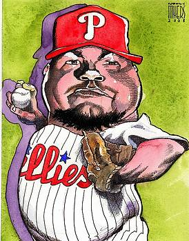 Joe Blanton -Phillies by Robert  Myers