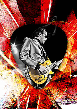 Joe Bonamassa Blue Guitar Art by Marvin Blaine