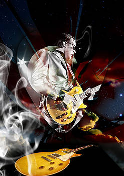 Joe Bonamassa Blue Guitarist by Marvin Blaine