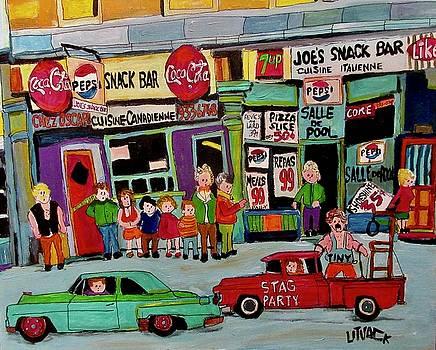 Joe's Snack Bar Notre Dame Seigneurs Stag Part by Michael Litvack