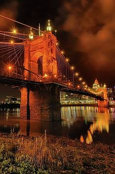 John A. Roebling Suspension Bridge. by Jeff Burcher