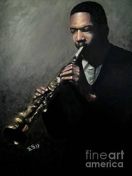 Jazz Man Coltrane by Enriqueto Sabio