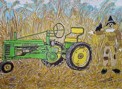 John Deere Tractor and the Scarecrow by Kathy Marrs Chandler