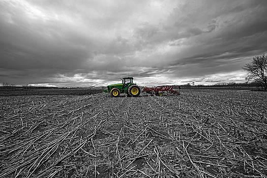 John Deere Tractor On The Farm by Robert Seifert