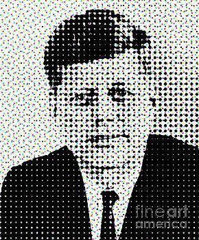 John F Kennedy in Dots by Paulo Guimaraes