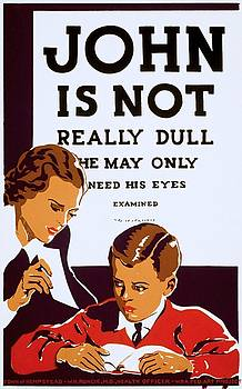 John is not really dull poster 1937 by Vintage Printery