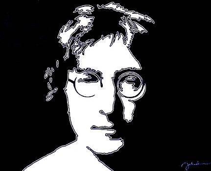 John Lennon Bright White by Ian Cameron