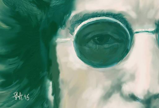 John Lennon CloseUp by Peggy Hickey