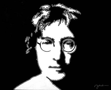 John Lennon Soft White by Ian Cameron
