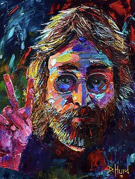 John Lennon Peace by Debra Hurd