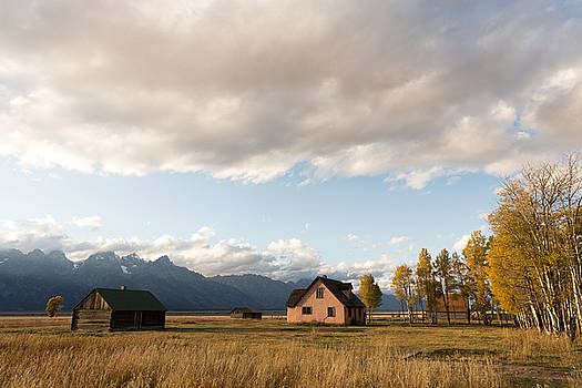 John Moulton Homestead and Teton Range Teton County WY by Troy Montemayor