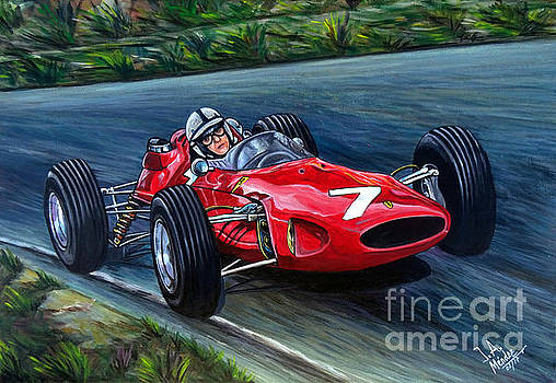 John Surtees Ferrari 158 by Jose Mendez